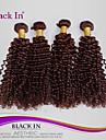 """4 pcs beaucoup 12 """"-30"""" crepus bresilien de cheveux boucle remy vierge trames de chocolat brun tissage de cheveux humains enchevetrement"""