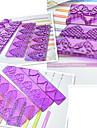 4-piece fondant tårta krage mögel plast gränsen kaka dekoration mögel