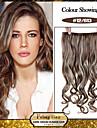 5 clips vågiga 12/613 syntetiskt hår klipp i hårförlängningar för damer fler färger