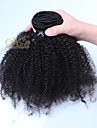 """afro kinky lockigt klipp i mänskliga hårförlängningar mongoliska jungfru hår klipp i hårförlängningar 10 """"-26"""""""