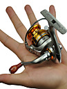 FDDL ® Mini Metal Fishing Spinning Reel 5 Ball Bearing Gear Rate 5.2:1 Interchangeable Handle