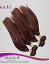 """4st / lot 8 """"-28"""" obearbetat brasilianska jungfru hår mörkbrunt rakt människohår väva trasselfri hårförlängningar"""