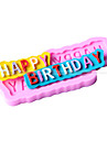 happy-födelsedag form fondant mögel kaka dekoration mögel