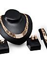 Pentru femei Seturi de bijuterii Coliere Brățară Cercei Inel Bijuterii Placat Auriu 18K de aur La modă Bijuterii Statement Auriu Bijuterii