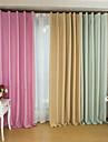 två paneler europeiska eleganta ren färg skuggning gardiner