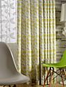 en panel blomma bomull linne utskrift gardin drapera
