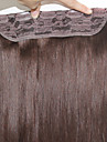 """ände jungfruligt remy människohår klipp i hårförlängningar # 1 # 1b # 2 # 4 # 6 # 8 100g / st rakt hår 20 """"-24"""""""