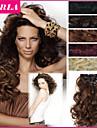 20 tum lång hår bit lockigt våg värmebeständiga syntet naturliga hårförlängning