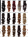 Excellent Quality Synthetic 24 Inch Long Curly Clip In Ribbon Ponytail Hairpiece - 20 Colors Available