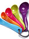 5st färgstarka mätning sked bakning verktyg hög kvalitet tårta verktyg 12x6x1cm