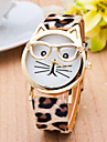 Cat Watch with Glasses Fashion Women Quartz Watches Reloj Mujer 2015 Relogio Feminino Leather Strap New Hot Montre Cool Watches Unique Watches