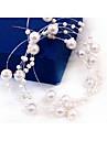 Femme Imitation de perle Casque-Mariage / Occasion speciale Chaine pour Cheveux 1 Piece