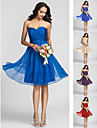 Homecoming Bridesmaid Dress Knee Length Chiffon A Line Sweetheart Dress (722115)