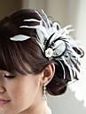 handgjorda bröllops fjäder hår klipp fascinator stycken Fascinators 017