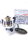 YOLO LI150A 4.8:1 3 Ball Bearings Ice Fishing Freshwater Fishing Carp Fishing Spinning Reels with Aluminum Spool