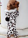 Chat / Chien Pulls a capuche / Pantalon Noir Vetements pour Chien Hiver Leopard Mariage / Cosplay