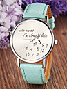 Women's Fashion Style Leather Band Quartz Analog Wrist Watch (Assorted Colors) Cool Watches Unique Watches