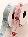 New Design 25mm Pink and Blue Organza Wedding  Ribbons