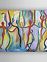 handbemalte abstrakte OElgemaelde mit gestreckten eingerahmt fertig zum Aufhaengen