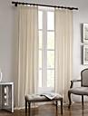 Deux Panneaux Le traitement de fenetre Rustique Moderne Mediterraneen Europeen Designer , Solide Salle de sejour Melange Lin/Coton