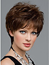 Women Nice short Natural Straight wig Stylish lady Brown synthetic hair wigs