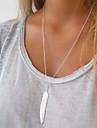 Dame Coliere Layered Aliaj Pană La modă Auriu Argintiu Bijuterii Ocazie specială Zi de Naștere