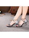 Chaussures de danse(Noir Bleu Rouge Argent Autre) -Non Personnalisables-Talon Cubain-Satin Paillette Brillante Paillette Synthetique-
