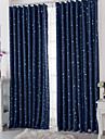 Deux Panneaux Le traitement de fenetre Moderne , A pois Salle de sejour Polyester Materiel Rideaux occultants rideauxDecoration