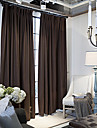 Two Panels Modern Neoclassical European Solid Coffee Window Curtains Drapes