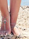 ciucuri femei multistrat retro singur lanț anklet