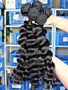 3pcs cheveux noirs beaucoup 5a non transformes cheveux vierge ondes lache extensions peruvien de cheveux humains naturel tisse