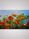 Peint a la main Abstrait Paysage A fleurs/Botanique Panoramique Horizontale,Moderne Un Panneau Toile Peinture a l\'huile Hang-peint For