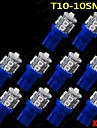 10 st ultra blå 360 ° t10 kil 10-smd för bil kupol karta last interiör LED-ljus