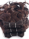 Human Hår vävar Brasilianskt hår Lockigt 12 månader 3 delar hår väver