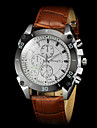 Men's Casual PU Strap Quartz Wrist Watch Cool Watch Unique Watch