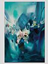 Peint a la main Paysages AbstraitsModern / Style europeen Un Panneau Toile Peinture a l\'huile Hang-peint For Decoration d\'interieur