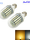7W E26/E27 Ampoules Mais LED T 90 SMD 3528 700 lm Blanc Chaud / Blanc Froid Decorative DC 12 V 2 pieces