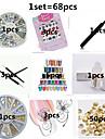 Bloem / Schattig / Punk - Vinger - 3D Nagelstickers / Nagelsieraden / Andere versieringen - Metaal / PVC / Andere - 68pcs - stuks 15*10*5