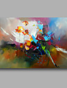 Ready to Hand Stretched Hand-Painted Abstract Modern Oil Painting Canvas  Wall Art Home Deco one Panel
