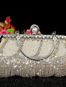 Women Other Leather Type Evening Bag Gold / Silver