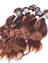 """naturlig våg jungfru hårförlängningar högsta kvalitet 6st # 4 indiskt jungfru människohår väver 2x10 """", 2x12"""", 2x14 """"200g / set"""