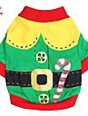Katter / Hundar Dräkter/Kostymer / Kappor / T-shirt / Outfits Röd / Grön Hundkläder Vår/Höst Klassisk Cosplay / Jul / Nyår / Halloween