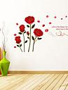 Botanisk / Ord & Citat / Romantik / Blommig Wall Stickers Väggstickers Flygplan , PVC 45cm*60cm