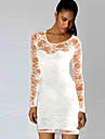 Women\'s Lace White / Black Dress (lace)