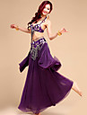 Belly Dance Outfits Women\'s Performance / Training Chiffon / Chinlon / Spandex / Polyester Beading