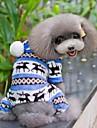 Chien Combinaison-pantalon Pyjamas Bleu Marron Incarnadin Gris Vetements pour Chien Hiver Printemps/Automne Motif de flocon de neige