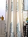 Två paneler Fönster Behandling Rustik , Löv Sovrum Linne/Bomull blend Material gardiner draperier Hem-dekoration For Fönster