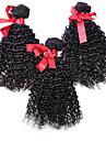peruanska lockigt hår väv extensions virgin människohår 3st / lot 7a peruansk kinky lockigt hår naturliga färg 100g / st