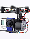 märke cnc 2axis borstlös gimbal kamerafästet med motor& controller FPV PTZ för gopro3 3+ 4 dji fantom 2 3