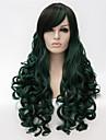 Europeiska och amerikanska modeflicka som säljer nödvändig blandad färgkvalitet lockig peruk